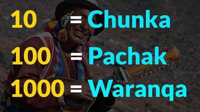 numeros en quechua de 10 en 10 hasta el 1000