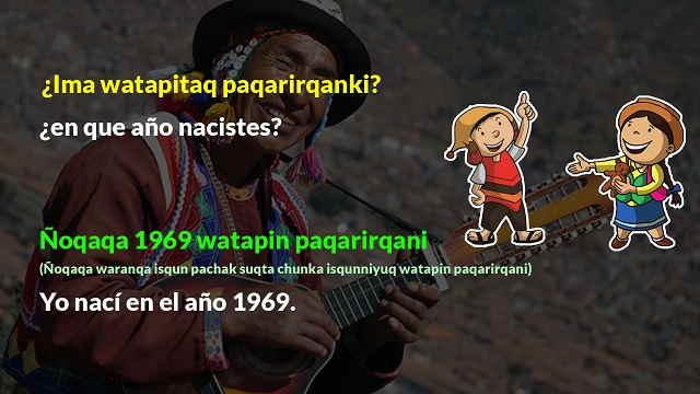 pregunta de edad en quechua
