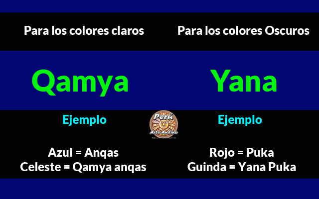 colores claros y oscuros en quechua