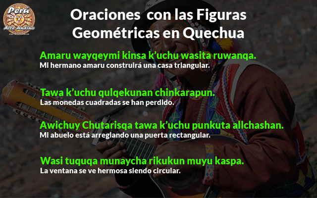 oraciones con las figuras geometricas en quechua