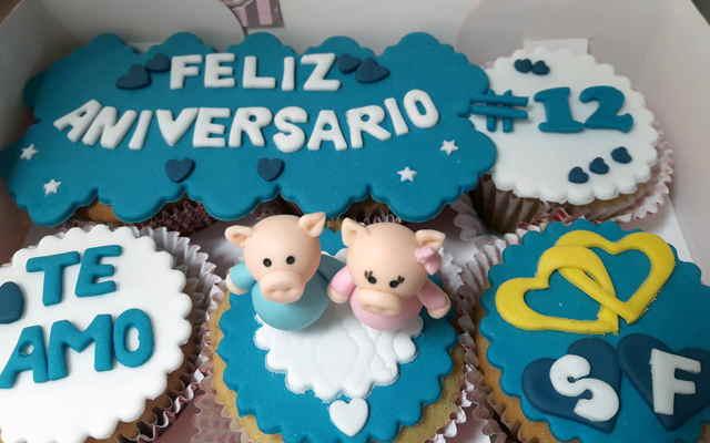 cupcakes para aniversario
