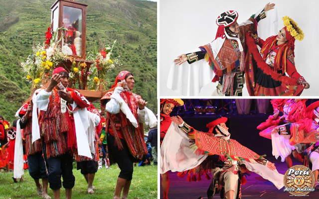 danza de las wallatas durante la festividad del niño marcacocha